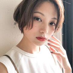 ミルクティーベージュ 大人ミディアム 大人かわいい デジタルパーマ ヘアスタイルや髪型の写真・画像