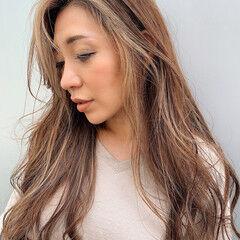 うぶ毛ハイライト ハイライト ロング PEEK-A-BOO ヘアスタイルや髪型の写真・画像
