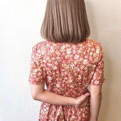 ワンカール ミルクティーグレージュ ナチュラル ミルクティーベージュ ヘアスタイルや髪型の写真・画像