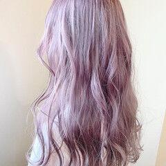 透明感カラー ロング ラベンダーカラー ハイトーンカラー ヘアスタイルや髪型の写真・画像