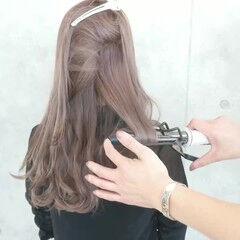 フェミニン 透明感 巻き動画 ロング ヘアスタイルや髪型の写真・画像