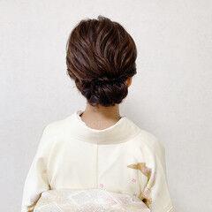 エレガント 着物 和装ヘア 結婚式ヘアアレンジ ヘアスタイルや髪型の写真・画像