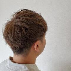 メンズヘア ブルーアッシュ メンズマッシュ ショート ヘアスタイルや髪型の写真・画像