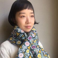 大人女子 ショート ボブ モード ヘアスタイルや髪型の写真・画像