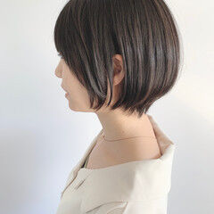 ナチュラル ショートヘア ショートボブ 黒髪ショート ヘアスタイルや髪型の写真・画像