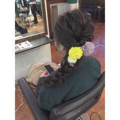 編み込み プリンセス ディズニー まとめ髪 ヘアスタイルや髪型の写真・画像