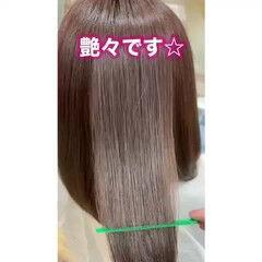 髪質改善トリートメント 大人ロング ナチュラル ミディアム ヘアスタイルや髪型の写真・画像