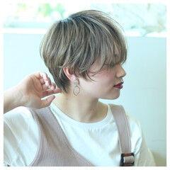 ハンサムショート ショート 夏 春 ヘアスタイルや髪型の写真・画像