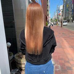 お洒落 透明感カラー ロング ナチュラル可愛い ヘアスタイルや髪型の写真・画像