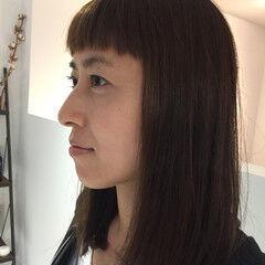 外国人風 大人かわいい セミロング ナチュラル ヘアスタイルや髪型の写真・画像