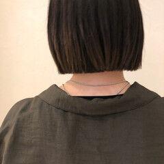 モード ショートヘア ストレート ボブ ヘアスタイルや髪型の写真・画像