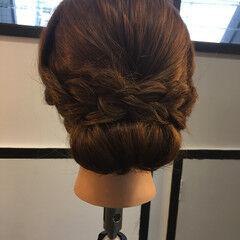 ナチュラル ヘアアレンジ ロング ギブソンタック ヘアスタイルや髪型の写真・画像