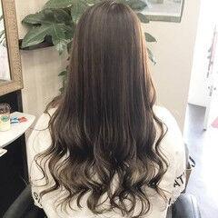 ロング ガーリー インナーカラー ヘアスタイルや髪型の写真・画像