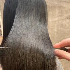 ナチュラル 髪質改善トリートメント ミディアム 髪質改善 ヘアスタイルや髪型の写真・画像