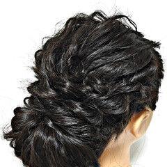 結婚式 パーティ ギブソンタック ヘアアレンジ ヘアスタイルや髪型の写真・画像