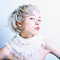 金髪 ショート モード 外国人風カラー ヘアスタイルや髪型の写真・画像