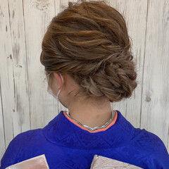 ふわふわヘアアレンジ ヘアアレンジ 結婚式ヘアアレンジ 成人式ヘアメイク着付け ヘアスタイルや髪型の写真・画像