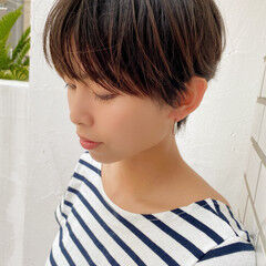 ショートヘア モード 切りっぱなしボブ ショートボブ ヘアスタイルや髪型の写真・画像