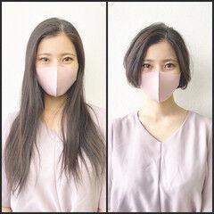 イメチェン ショート ナチュラル 簡単スタイリング ヘアスタイルや髪型の写真・画像