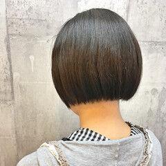 切りっぱなし モード 縮毛矯正 パーマ ヘアスタイルや髪型の写真・画像