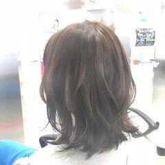 外国人風カラー セミロング 学校 黒髪 ヘアスタイルや髪型の写真・画像