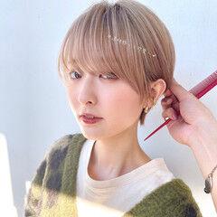 ショート ショートカット フェミニン ショートボブ ヘアスタイルや髪型の写真・画像