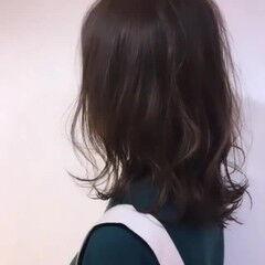 ナチュラル ママヘア 透明感 ゆるふわセット ヘアスタイルや髪型の写真・画像
