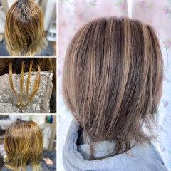 髪質改善カラー ショートヘア ミディアム エレガント ヘアスタイルや髪型の写真・画像
