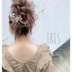 簡単ヘアアレンジ ロング 結婚式 花嫁 ヘアスタイルや髪型の写真・画像