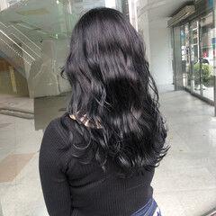 ダークカラー ブルージュ 暗髪 ナチュラル ヘアスタイルや髪型の写真・画像