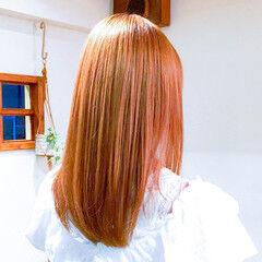 うる艶カラー 艶髪 ミルクティーベージュ 美髪 ヘアスタイルや髪型の写真・画像
