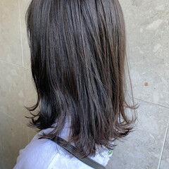 地毛風カラー ボブ アッシュグレージュ アディクシーカラー ヘアスタイルや髪型の写真・画像