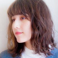 無造作カール ナチュラル 韓国風ヘアー 無造作 ヘアスタイルや髪型の写真・画像