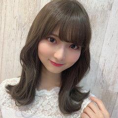 オルチャン 韓国ヘア ひし形シルエット ミディアム ヘアスタイルや髪型の写真・画像