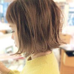 ショート ナチュラル 外国人風カラー 外ハネ ヘアスタイルや髪型の写真・画像