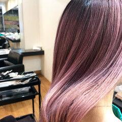 ストリート セミロング 髪質改善トリートメント ピンクカラー ヘアスタイルや髪型の写真・画像
