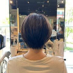 ノースタイリング ナチュラル ショートヘア ミニボブ ヘアスタイルや髪型の写真・画像