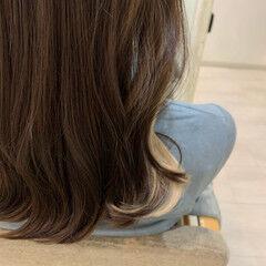 ヘアセット モード セミロング インナーカラー ヘアスタイルや髪型の写真・画像