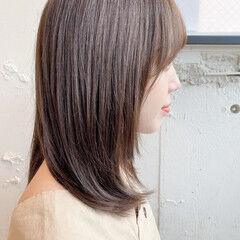 ミディアム 縮毛矯正 ナチュラル 縮毛矯正ストカール ヘアスタイルや髪型の写真・画像