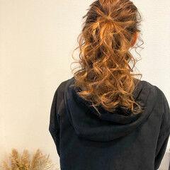 ポニーテール フェミニン セミロング 結婚式 ヘアスタイルや髪型の写真・画像