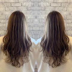 ホワイトグラデーション グラデーションカラー 大人ハイライト エレガント ヘアスタイルや髪型の写真・画像