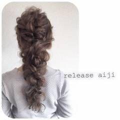 アンティーク スウィート ヘアアレンジ 編み込み ヘアスタイルや髪型の写真・画像