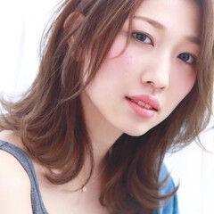 フェミニン 大人かわいい おフェロ ミディアム ヘアスタイルや髪型の写真・画像