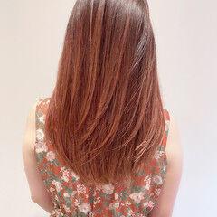 ピンクベージュ 透明感 美髪 フェミニン ヘアスタイルや髪型の写真・画像
