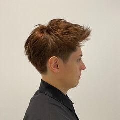 絶壁カバー アップバング ストリート かっこいい ヘアスタイルや髪型の写真・画像
