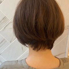 大人可愛い ショート 銀座美容室 イルミナカラー ヘアスタイルや髪型の写真・画像
