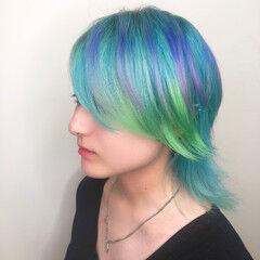 ショートヘア 東京 ミディアム 派手髪 ヘアスタイルや髪型の写真・画像