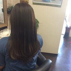 ナチュラル グラデーションカラー セミロング グラデーション ヘアスタイルや髪型の写真・画像