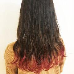 ナチュラル 裾カラー ロング 女っぽヘア ヘアスタイルや髪型の写真・画像