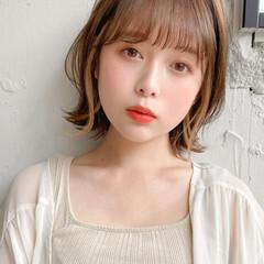 ハイライト 透明感カラー 簡単ヘアアレンジ モテ髪 ヘアスタイルや髪型の写真・画像